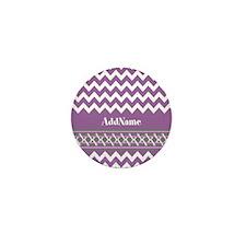 Trendy Purple and Gray Chevr Mini Button (10 pack)