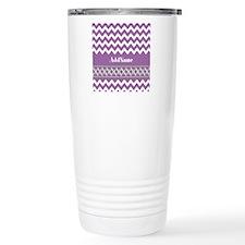 Trendy Purple and Gray Travel Mug