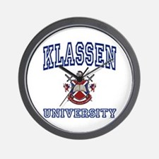 KLASSEN University Wall Clock
