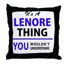 Cute Lenore Throw Pillow