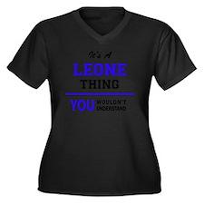 Funny Leon Women's Plus Size V-Neck Dark T-Shirt