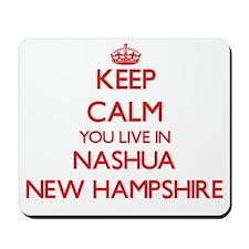 Keep calm you live in Nashua New Hampshi Mousepad