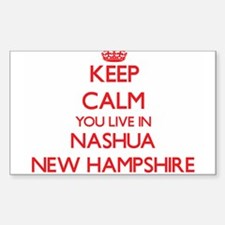 Keep calm you live in Nashua New Hampshire Decal