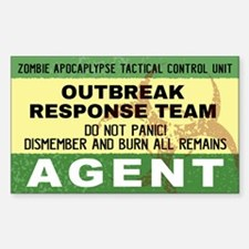 Zombie Outbreak Response Decal