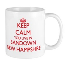 Keep calm you live in Sandown New Hampshire Mugs
