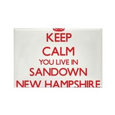 Keep calm you live in Sandown New Hampshir Magnets