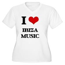 I Love IBIZA MUSIC Plus Size T-Shirt