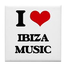 I Love IBIZA MUSIC Tile Coaster