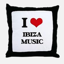 I Love IBIZA MUSIC Throw Pillow