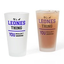 Cute Leon Drinking Glass