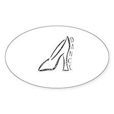 Dance Shoe Oval Decal
