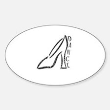 Dance Shoe Oval Decal