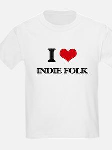 I Love INDIE FOLK T-Shirt