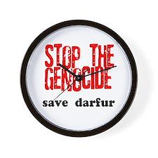 Stop Genocide Save Darfur Wall Clock