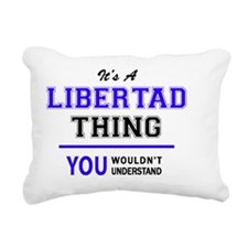 Cute Libertad Rectangular Canvas Pillow