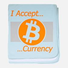 I Accept Bitcoin baby blanket