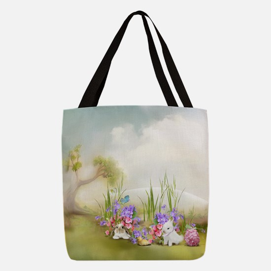 Easter Bunnies Polyester Tote Bag