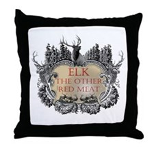 Elk the other red meat gifts Throw Pillow