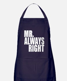 Mr Always Right White Apron (dark)