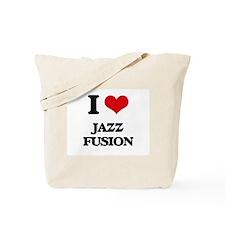 I Love JAZZ FUSION Tote Bag