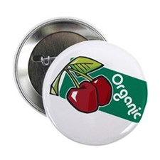 "Organic (Cherries) 2.25"" Button (10 pack)"