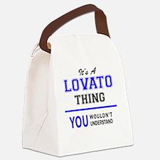 Funny Lovato Canvas Lunch Bag