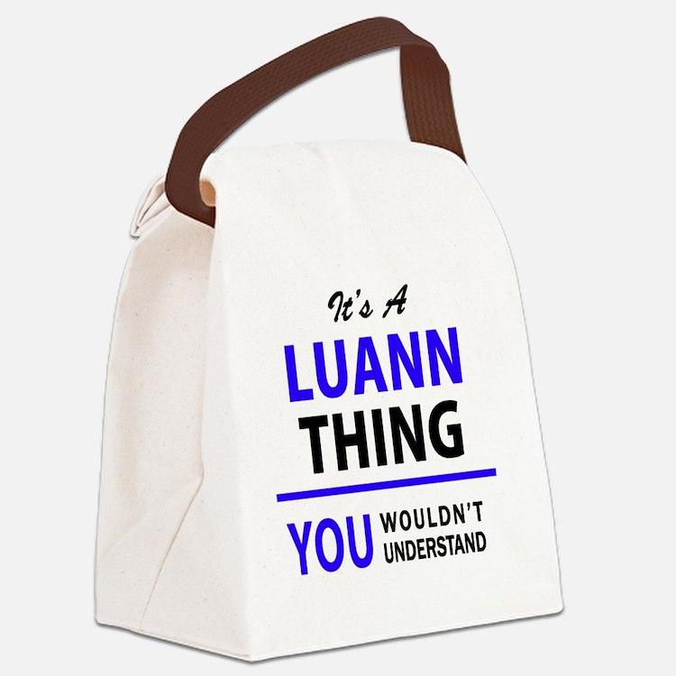 Cute Luann Canvas Lunch Bag