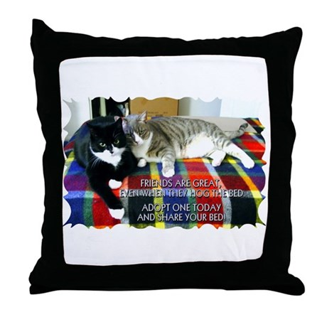 """Bed Hog"" Throw Pillow"