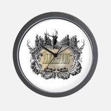 elkaholic elk logo Wall Clock