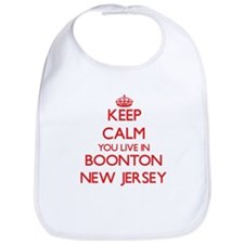 Keep calm you live in Boonton New Jersey Bib