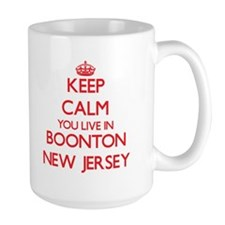 Keep calm you live in Boonton New Jersey Mugs