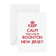 Keep calm you live in Boonton New J Greeting Cards
