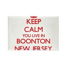 Keep calm you live in Boonton New Jersey Magnets