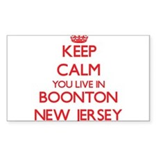 Keep calm you live in Boonton New Jersey Decal
