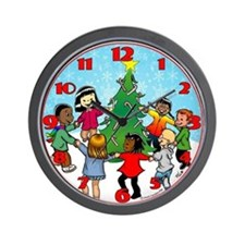 Candy Cane Dance Wall Clock