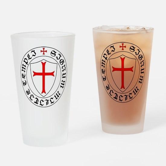 Cute Templar Drinking Glass