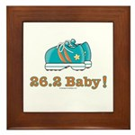 26.2 Baby Marathon Blue Running Shoes Framed Tile