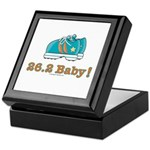 26.2 Baby Marathon Running Shoes Keepsake Tile Box