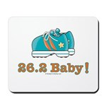 26.2 Baby Marathon Blue Running Shoes Mousepad