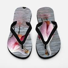 Roseate Spoonbill Flip Flops
