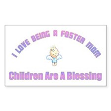 I LOVE BEING A FOSTER MOM Rectangle Bumper Stickers