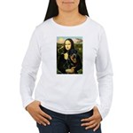 Mona Lisa/Rottweiler Women's Long Sleeve T-Shirt