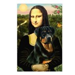 Mona Lisa/Rottweiler Postcards (Package of 8)