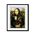 Mona Lisa/Rottweiler Framed Panel Print