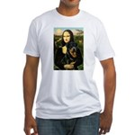 Mona Lisa/Rottweiler Fitted T-Shirt