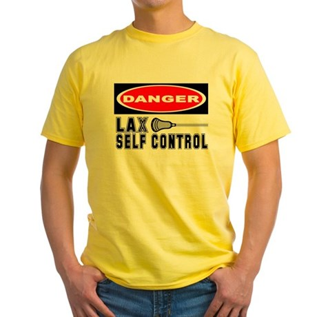 Lacrosse Control Danger Yellow T-Shirt