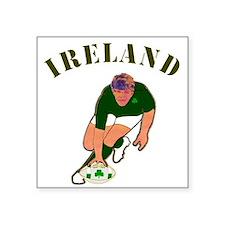 Ireland style rugby player Sticker