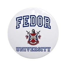 FEDOR University Ornament (Round)
