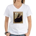Mom's Rottweiler Women's V-Neck T-Shirt