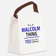 Unique Malcolm Canvas Lunch Bag